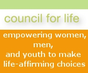 Council for Life banner