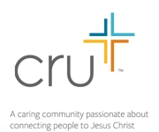 Cru banner with mult-colored cross