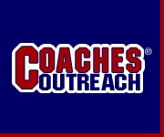Coaches Outreach blue and red banner