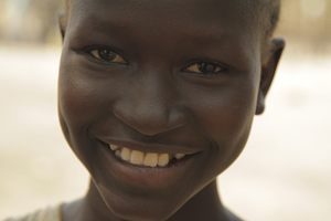 Young Happy Child from Sudan