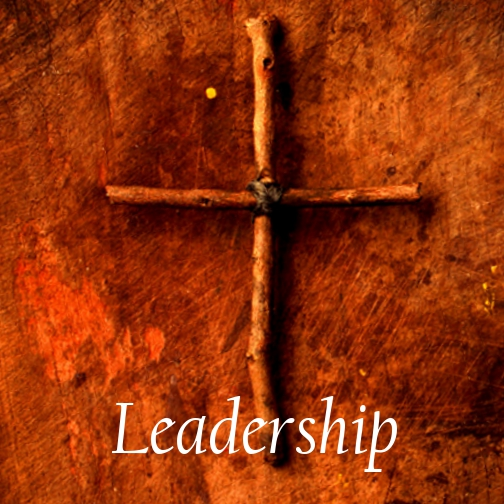 cross with the word leadership