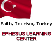 Turkish Flag with words Ephesus Learning Center