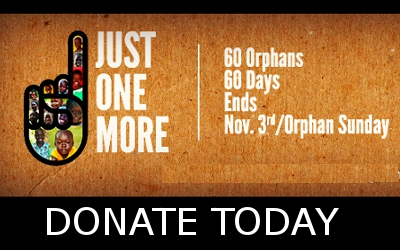 Donation banner to help 60 orphans in 60 days