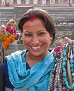 Beautiful woman from Nepal