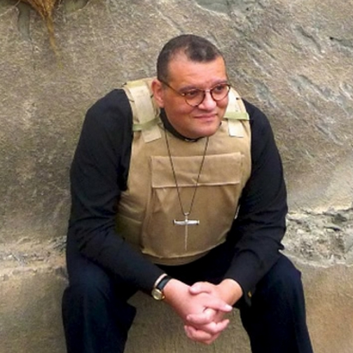 Rev. Canon Dr. White, the vicar of St. George's Church, just outside the Green Zone, in Baghdad, Iraq