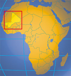 Picture of Map of Africa with Mali highlighted