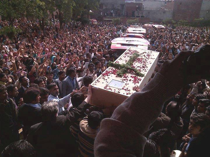 Funeral procession in Pakistan