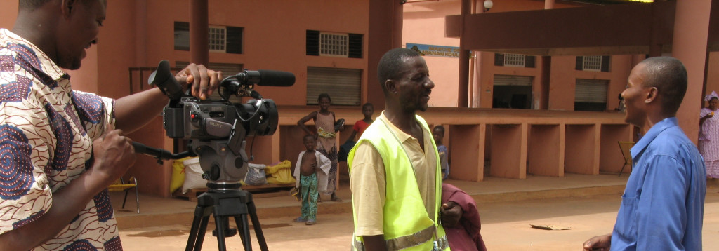 ministry film crew in West Africa