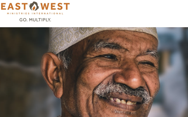 East West Ministries picture of happy older man